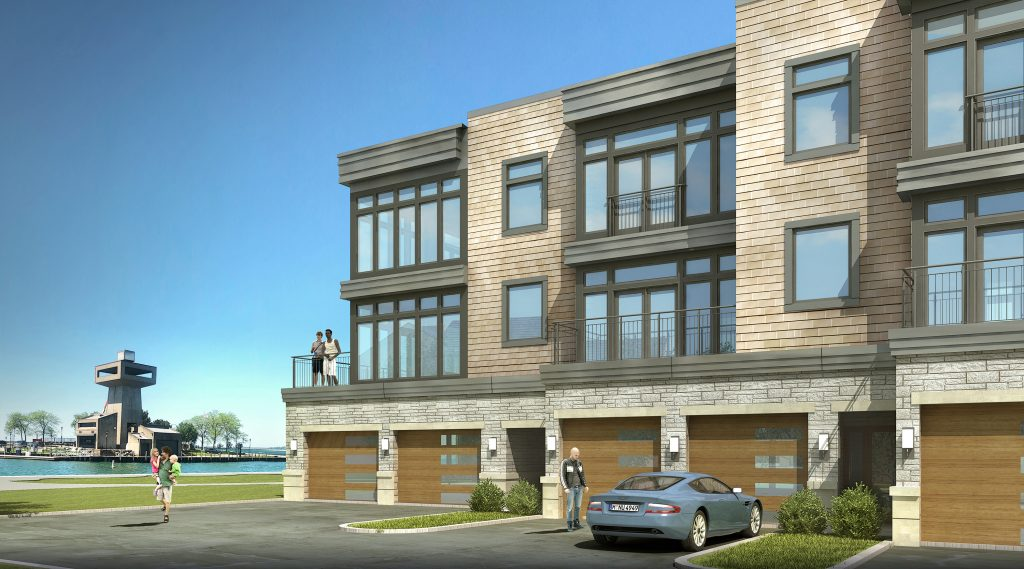 Artist render of waterfront condos
