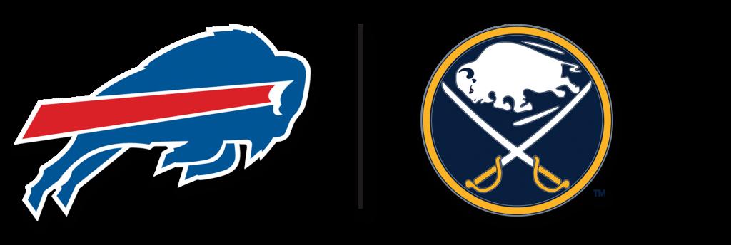 Buffalo Bills and the Buffalo Sabres Team logos